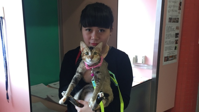 C988-Tisha with the adopter