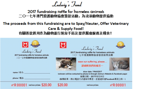 2017 Fundraising for homeless animals-poster (1)